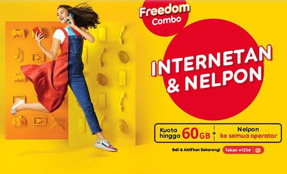 Paket Internet Indosat Freedom Combo 55006