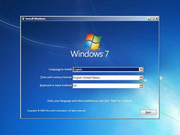 Cara Instal Windows7 2