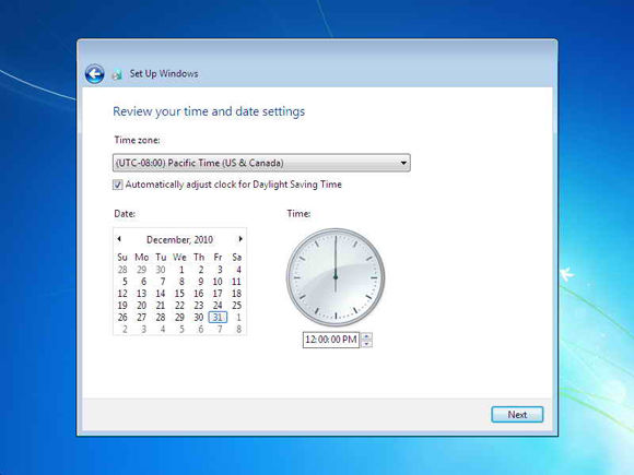 Cara Instal Windows7 22