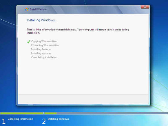 Cara Instal Windows7 7
