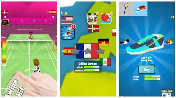 badminton game 3d
