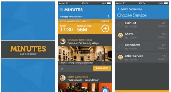 Aplikasi Barbershop Android
