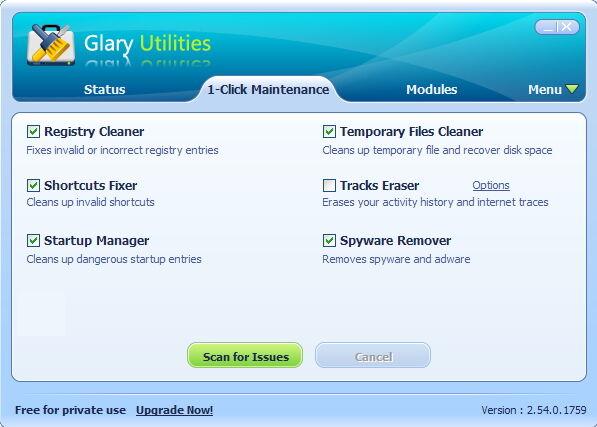 Glary Utilities Lisensi Gratis