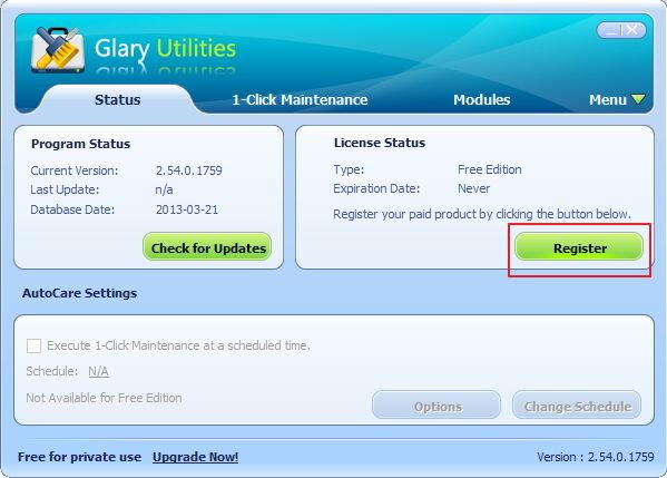 Glary Utilities Lisensi Gratis 1