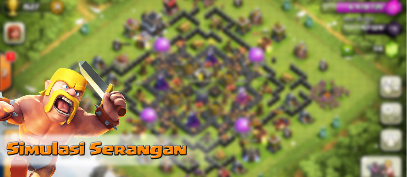 Cara Simulasi Serangan di Clash of Clans dengan XModGames