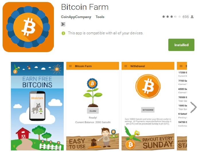 Aplikasi mendapatkan Bitcoin gratis
