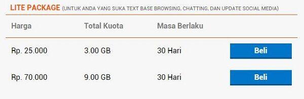 daftar paket internet 4G paling murah bolt 7