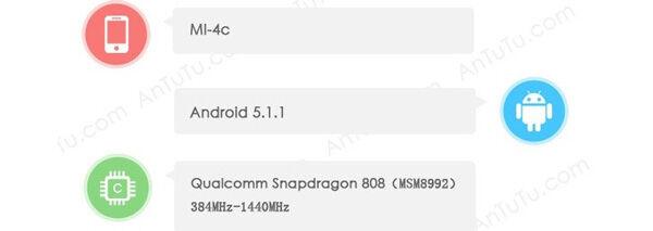 Benchmark Xiaomi Mi 4c Tenaa 1