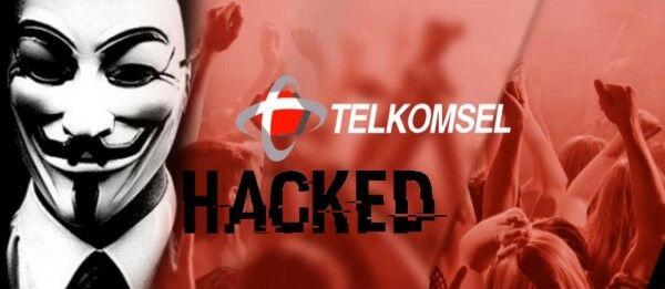Website Telkomsel Dihack Banner