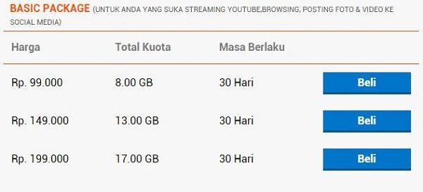 daftar paket internet 4G paling murah bolt 2
