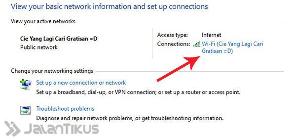 Mengetahui Password Wifi Windows 10 2