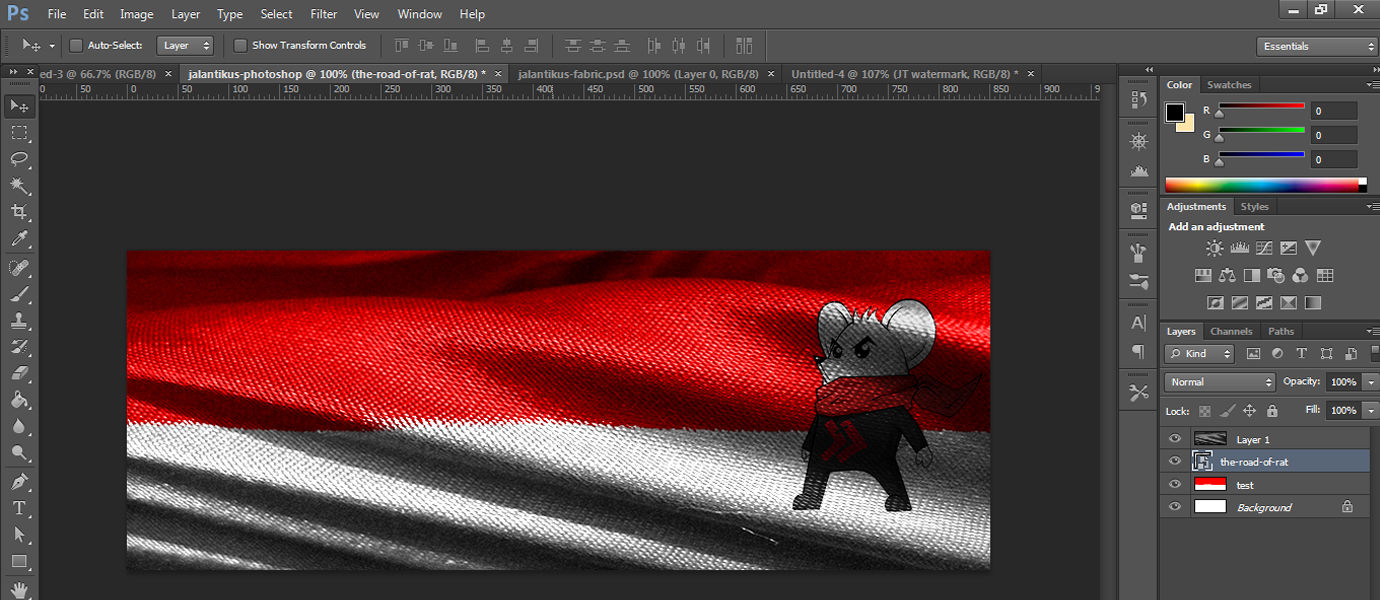 Cara Mudah Membuat Gambar Bendera 3D di Photoshop