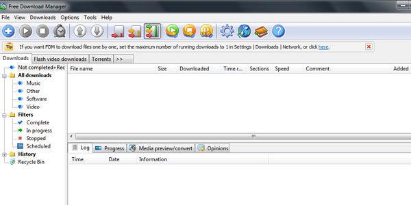 Cara Download Cepat Menggunakan FDM 1