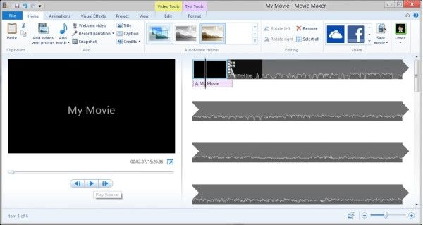 Windows Movie Maker 9a22f