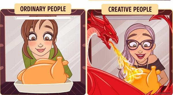 Perbedaan Orang Kreatif Dan Biasa 7