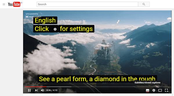 Cara Menampilkan Lirik Di Youtube 2