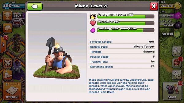 Pasukan Baru Coc Miner 2