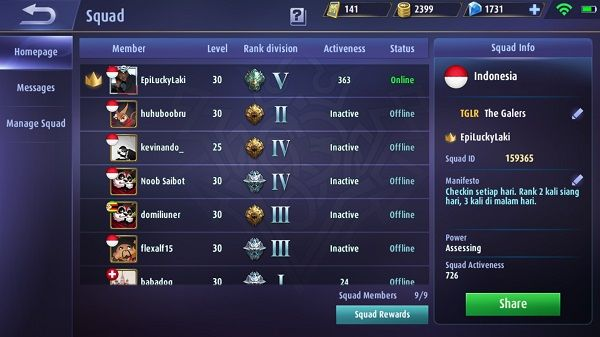 Cheat Mobile Legends Naik Level