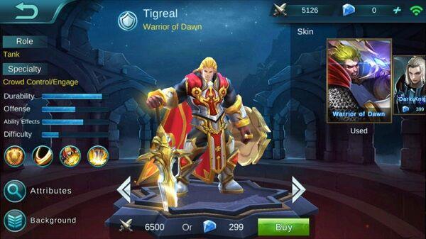Tigreal 6a2a2