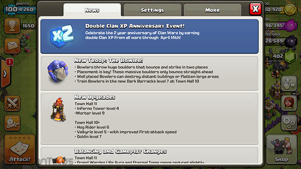 Double Exp Clan Wars 1