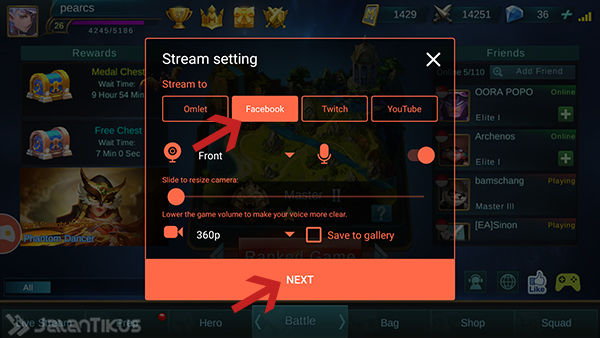 Cara Live Streaming Saat Main Game Di Android 4