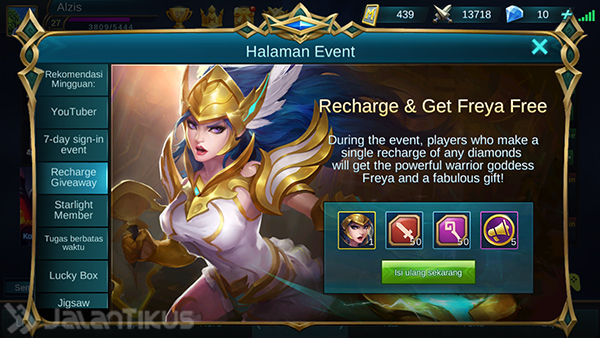 Cara Dapat Hero Freya Mobile Legends 1