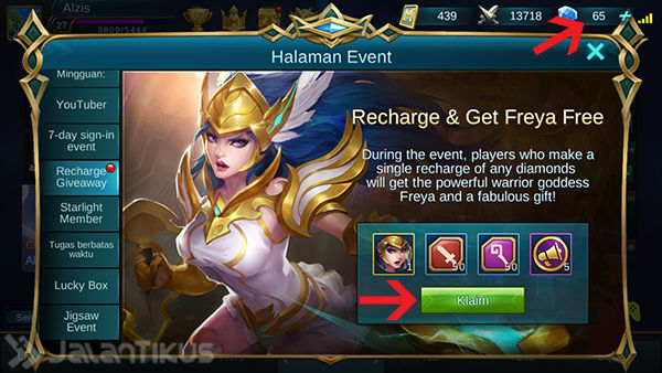 Cara Dapat Hero Freya Mobile Legends 2