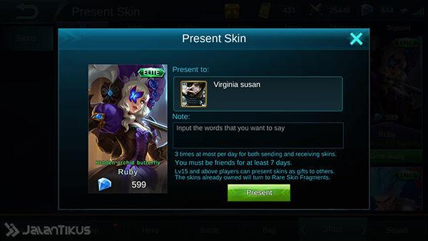 Cara Memberi Skin Mobile Legends 5