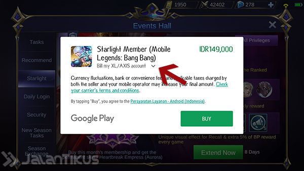 Cara Beli Starlight Mobile Legends 4
