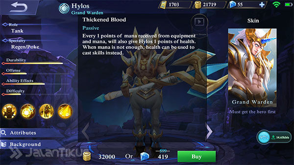 Hero Hylos Mobile Legends 2