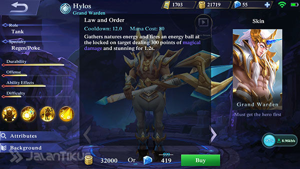 Hero Hylos Mobile Legends 3