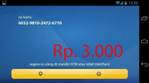 Mandiri E Money Info 1