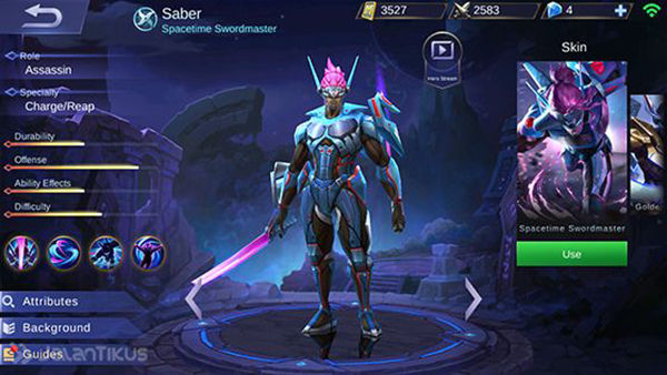 Guide Saber Mobile Legends 1 0dea1