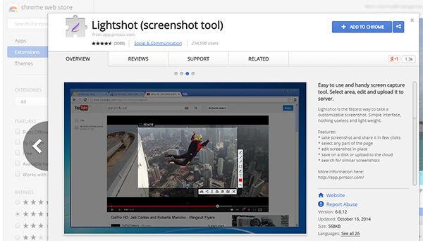 Lightshot Ekstension Chrome Untuk Screenshot 1
