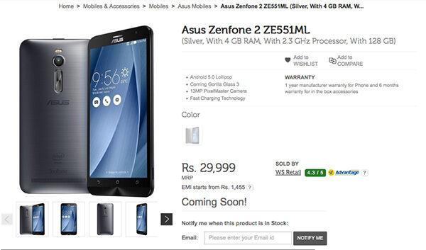 Harga Asus Zenfone 2 128 Gb Storage 6 Jutaan