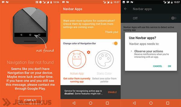 Cara Mengubah Tampilan Navigation Bar Android
