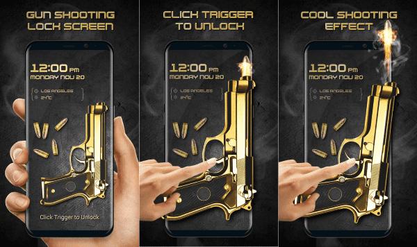 Gun Shooting Locker Funny Lock Screen 1