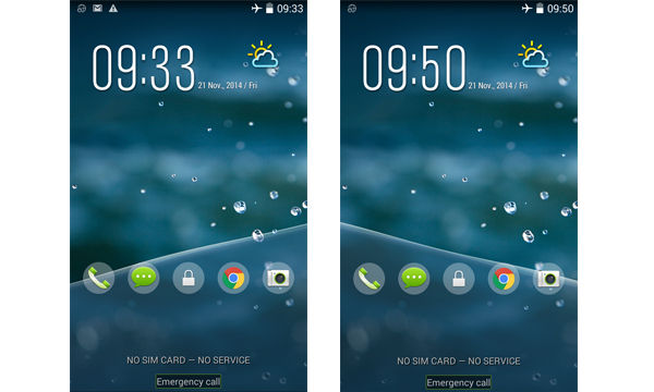 Review Acer Z500lockscreen