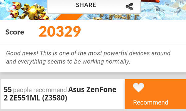 Benchmark Zenfone 2
