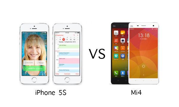 Mi4 Vs IPhone 5S