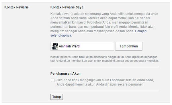 Facebook Waris