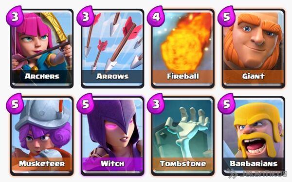 Battle Deck Witch Clash Royale 1