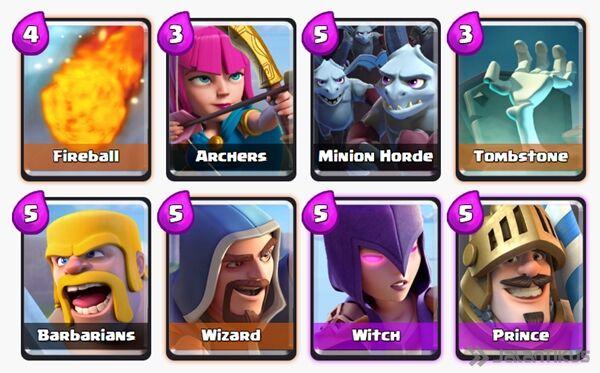 Battle Deck Witch Clash Royale 10