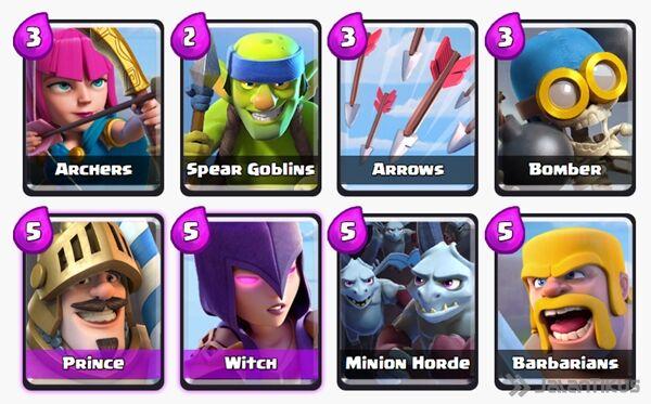 Battle Deck Witch Clash Royale 12