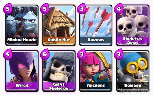 Battle Deck Witch Clash Royale 19
