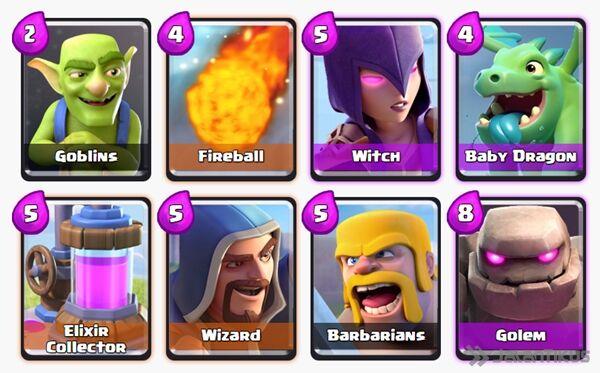 Battle Deck Witch Clash Royale 4