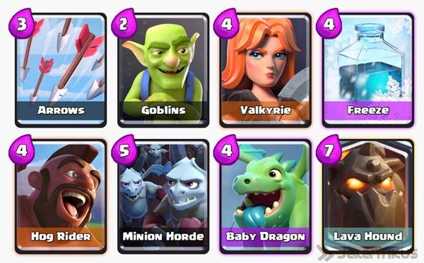 Battle Deck Lava Hound Clash Royale 19