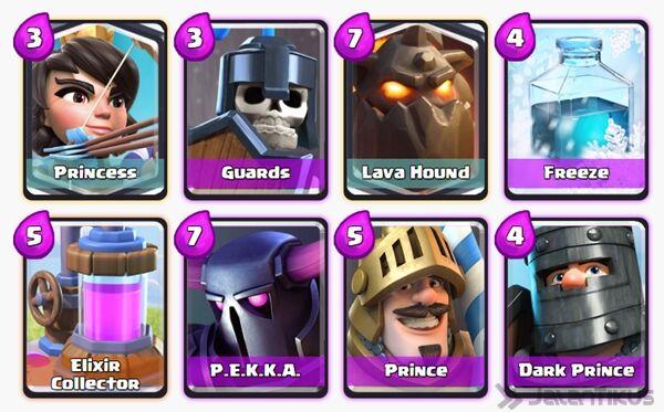 Battle Deck Lava Hound Clash Royale 4
