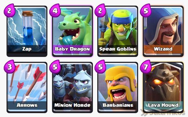 Battle Deck Lava Hound Clash Royale 6