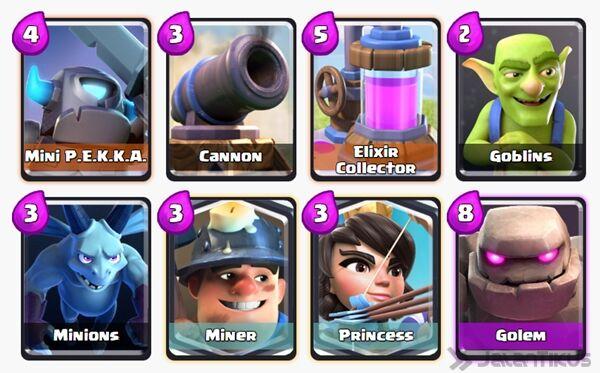 Battle Deck Miner Clash Royale 16